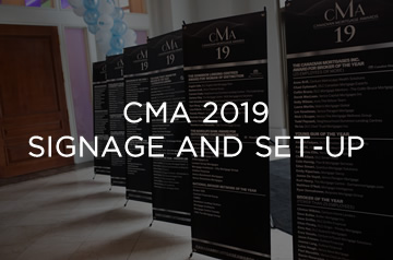 cma 2019 Signage and Set up